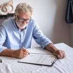 Man reviewing estate plan