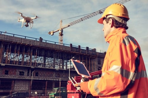 Drone in Construction Site